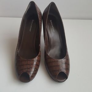 Naturalaizer brown leather shoes.